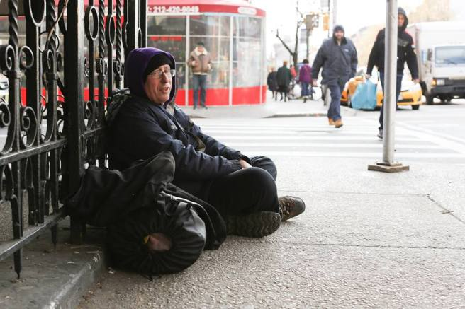 A homeless man picture, credit to Humans of New York.